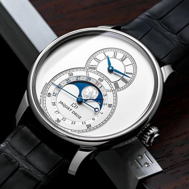 【JAQUET DROZ ジャケ・ドロー】GRANDE SECONDE MOON SILVER  グラン・セコンド ムーン シルバー/国内正規品 腕時計