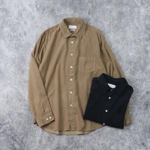 【MANUAL ALPHABET】OVERDYED CORDUROY SHIRT (2色) マニュアルアルファベット コーデュロ 長袖シャツ  日本製 MADE IN JAPAN