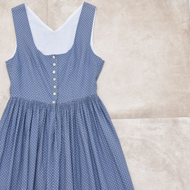 """""""絣風"""" print pattern sleeveless one piece"""