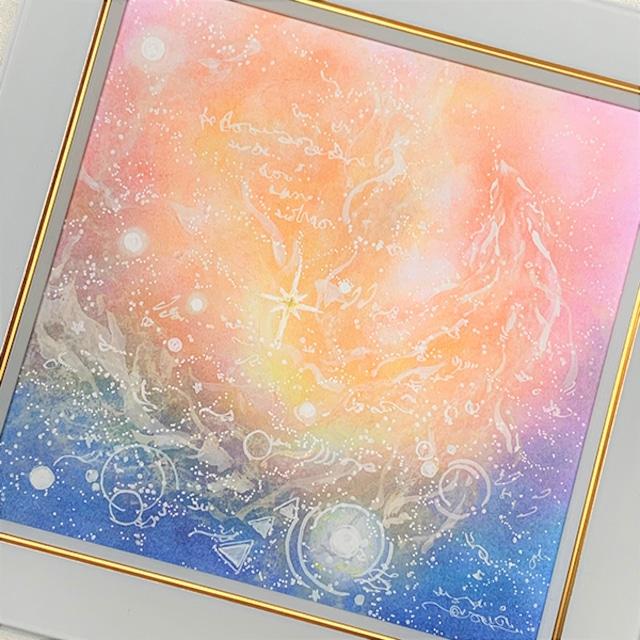 龍神 パステルアート 原画 『豊穣のヒカリ』 龍神様が導くあなたのヒカリ