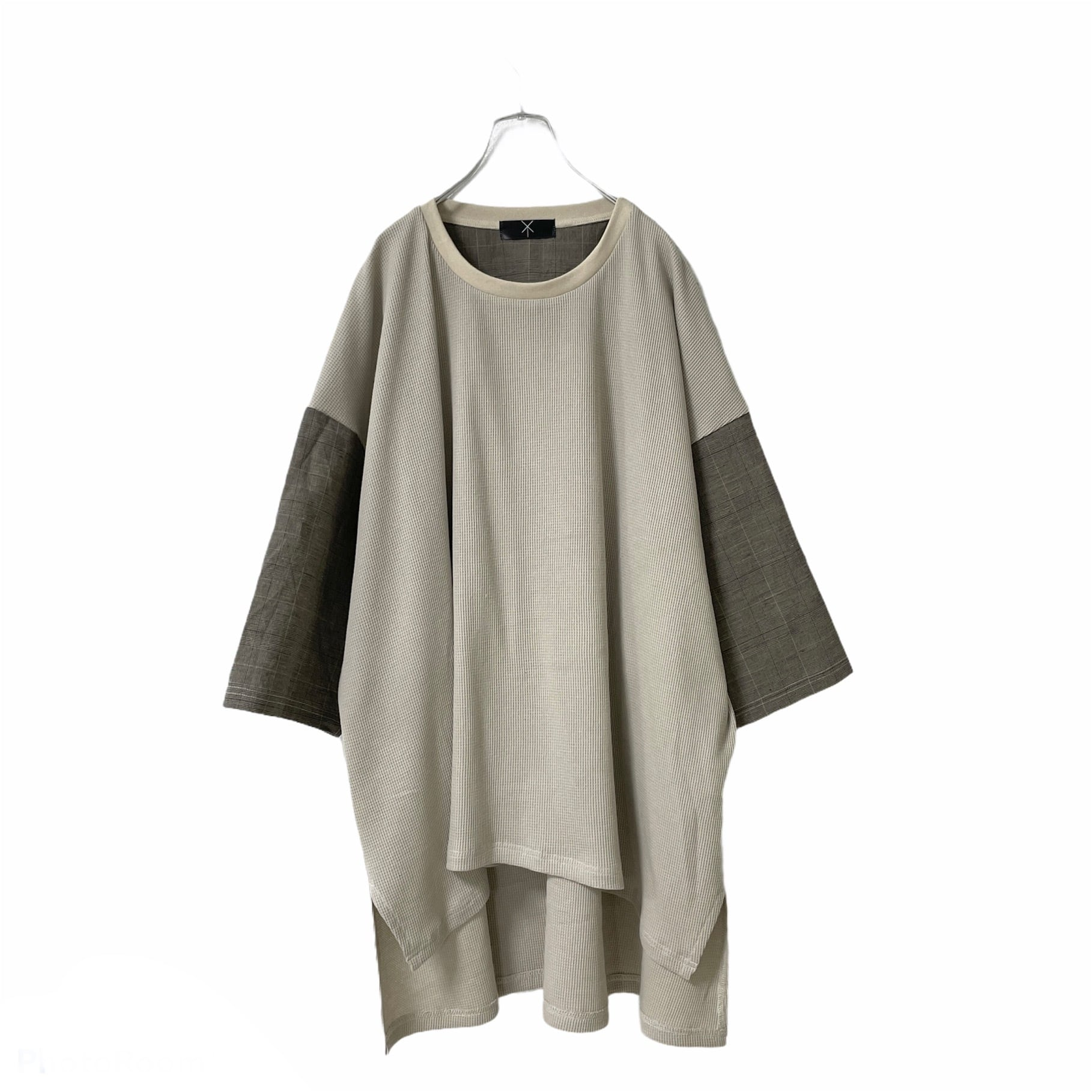 Slit-T-shirts1.2 (light beige/brown)