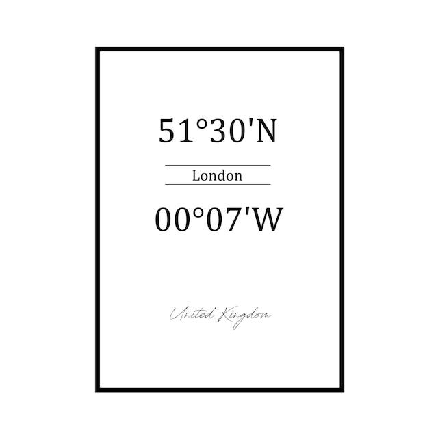 """51°30'N 00°07'W LONDON"" UK - POSTER [SD-000599] A4サイズ ポスター単品"