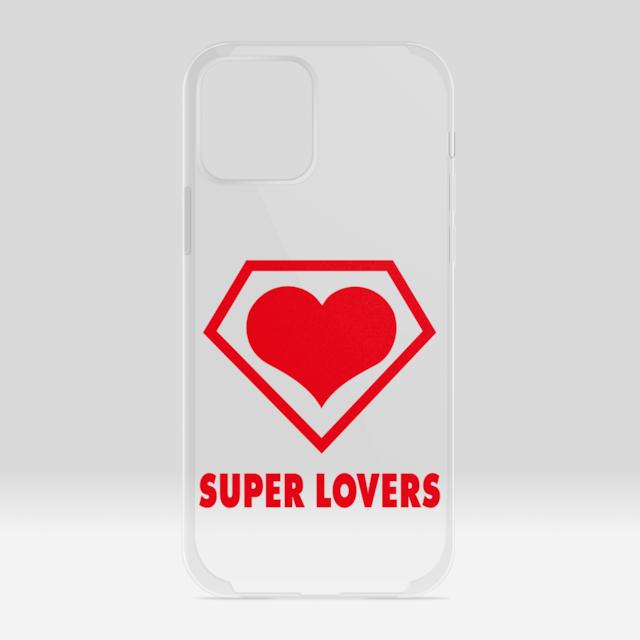 SUPER LOVERS logo/スーパーラヴァーズアイホンケース  12 /12Pro