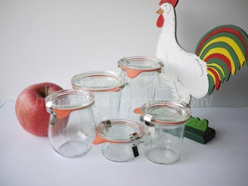 ヴィンテージ WECK ガラス保存瓶キャニスター 5P  メイソンジャー
