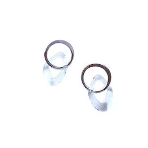 Glass & Silver Bend Mini Pierce