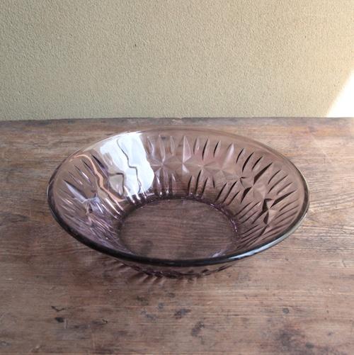 紫ガラスの厚手の小鉢