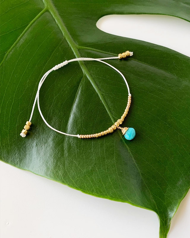 Turquoise bracelet / on the beach     OBH-029