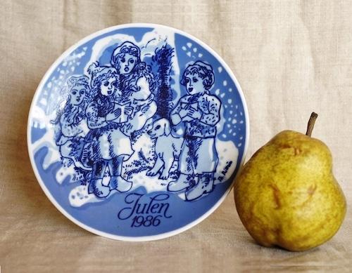 北欧 PORSGRUND ノルウェー julen1986 陶器 絵皿  クリスマスプレート