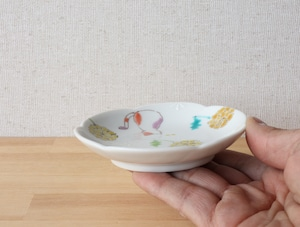三毛猫みーちゃん(春) 小皿(工房直売価格)