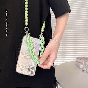 グリーンチェーンiPhone ストラップ S4360