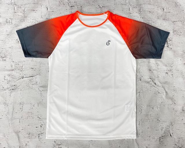 【予約販売】ゲームTシャツ(ホワイト/オレンジ)