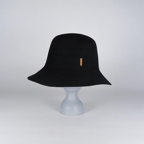 AW21-BD-5 Rabbit Felt Roller Hat - BLK/MAG