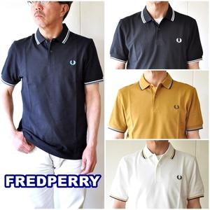FREDPERRY フレッドペリー 半袖 かのこポロシャツ M3600 メンズ ポロシャツ ラインポロ