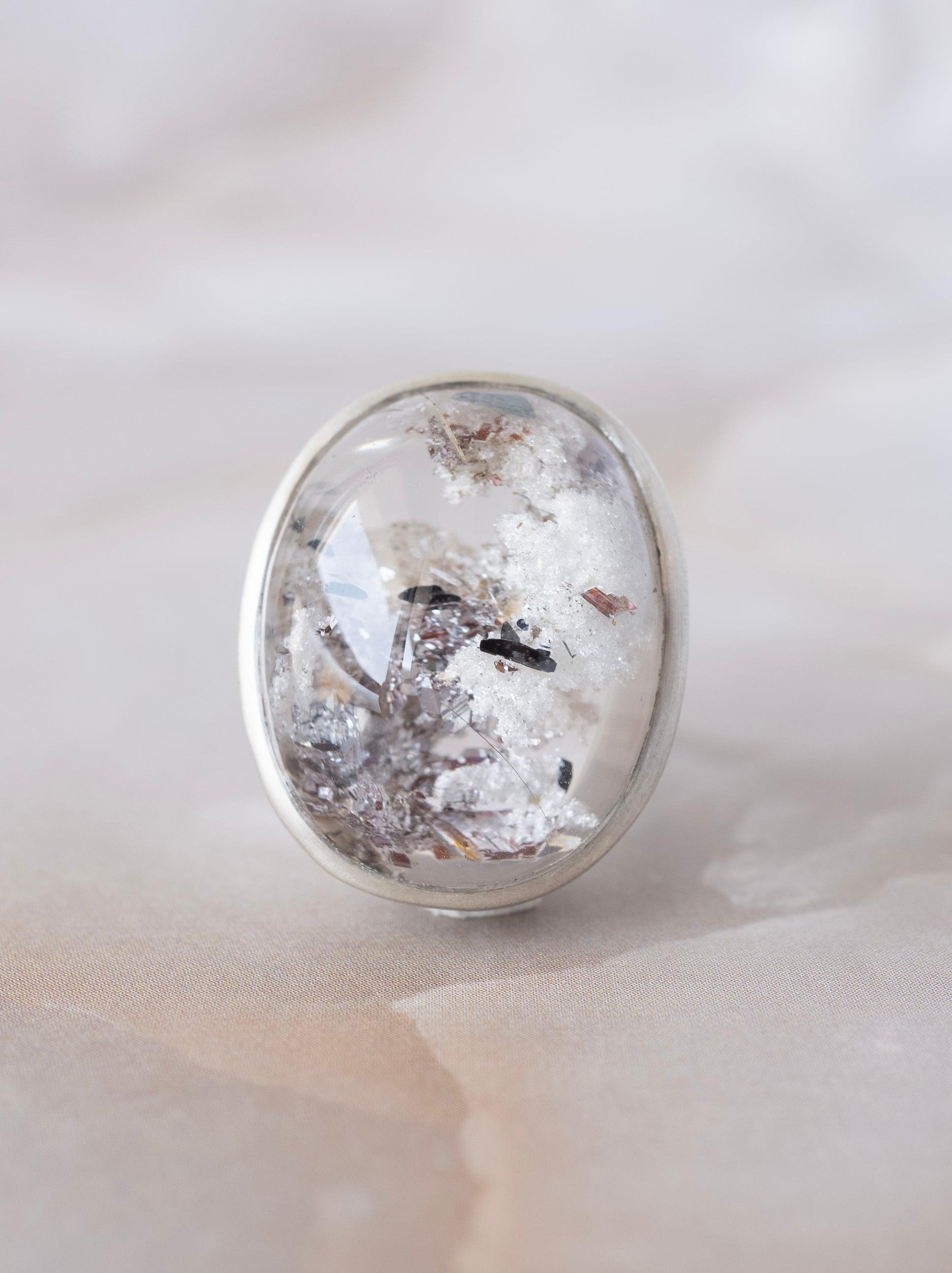 White Garden Quartz Ring