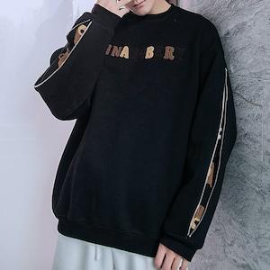 【メンズファッション】長袖ファスナーラウンドネックアルファベットスウェット52449920