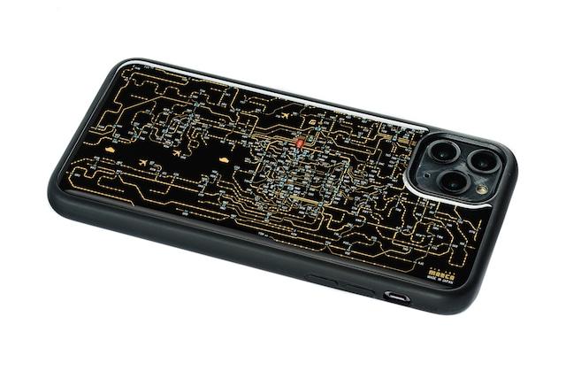 FLASH 関西回路線図 iPhone 11 Pro Max ケース  黒【東京回路線図A5クリアファイルをプレゼント】