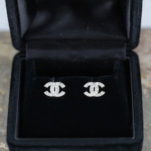 .CHANEL A12W COCO MARC CLEAR STONE EARRING MADE IN FRANCE/シャネルココマーククリアストーンピアス2000000052281