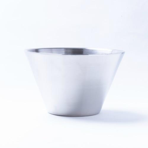 韓国ステンレス食器(2号)【直径13.8㎝/高さ8.8㎝】Western Style