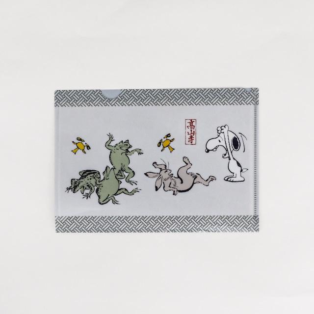 スヌーピー A5ファイル相撲 鳥獣戯画
