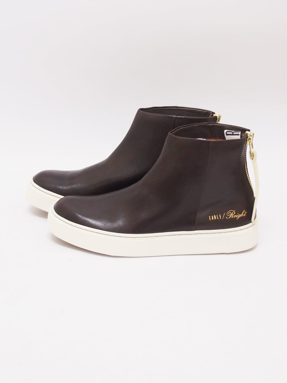 EARLE (アール) Back zip sneaker boots / DARK BROWN ER8406-2
