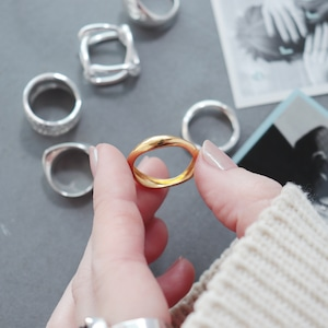 RING || 【通常商品】 WAVE RING GOLD (S925) || 1 RING || GOLD || FAL059