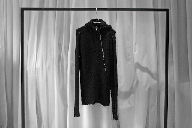 thom krom / Knit hoodie / BLK