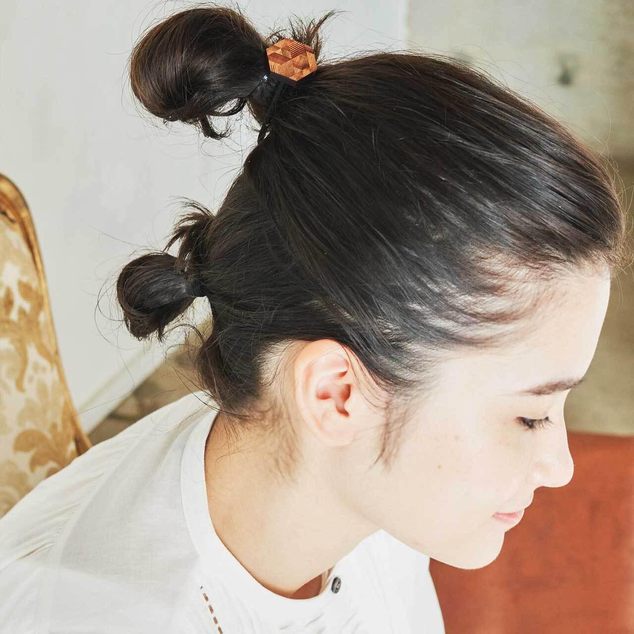honeycomb / ハニカム(Hair Elastic)/ 黒