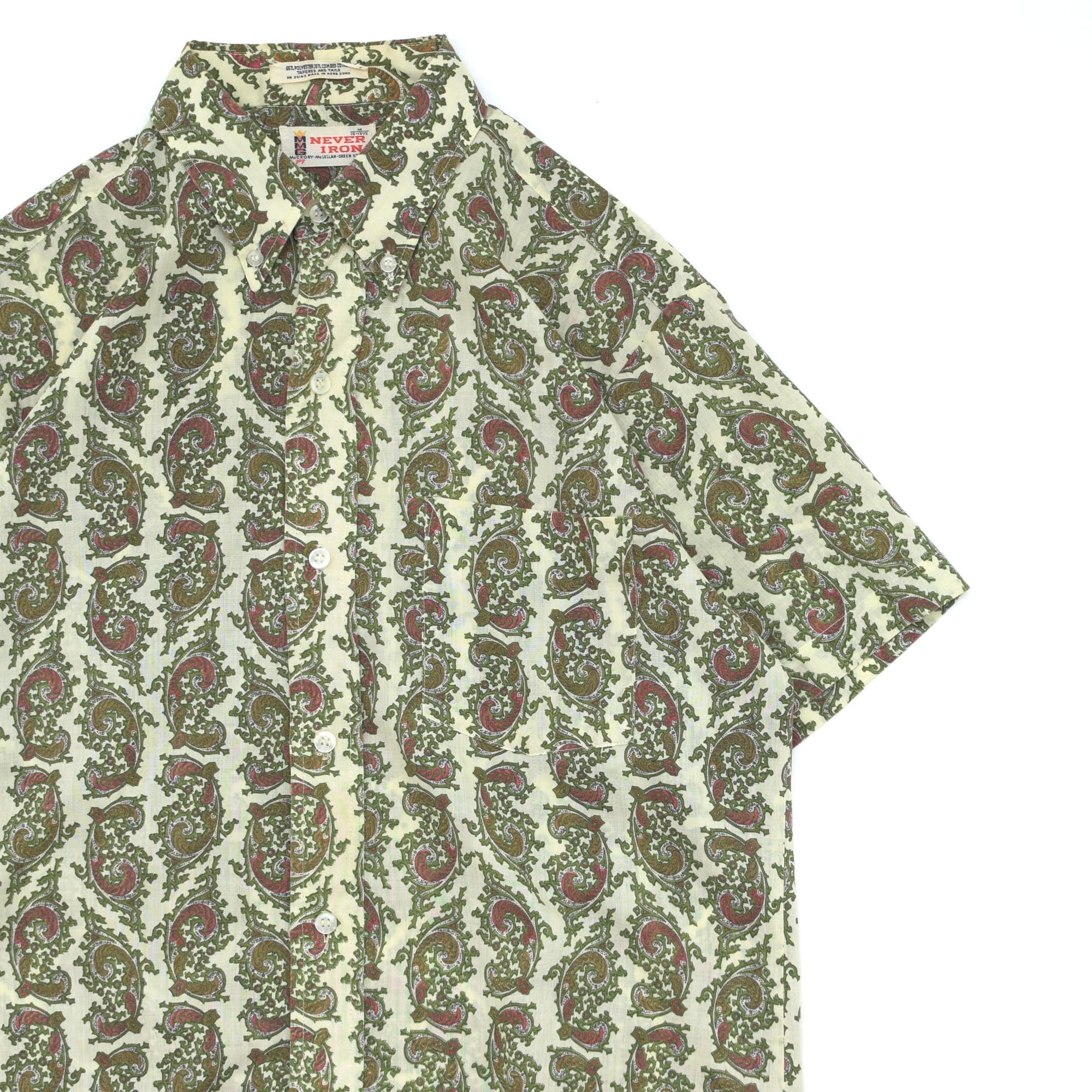 60〜70's MMG McCRORY paisly BD shirt