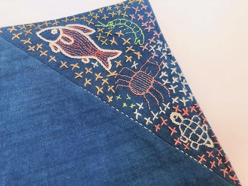 レンテン族 刺繍ランチョンマット かわ