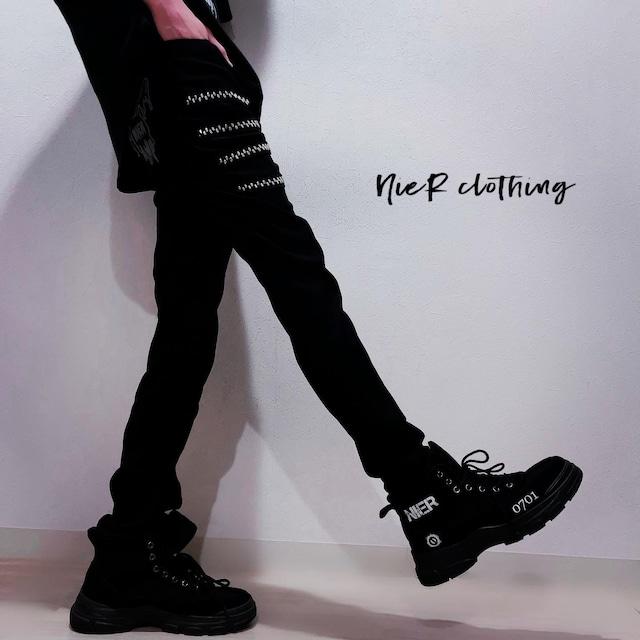 STYLISH BLACK PANTS 【4LINE STUDS】