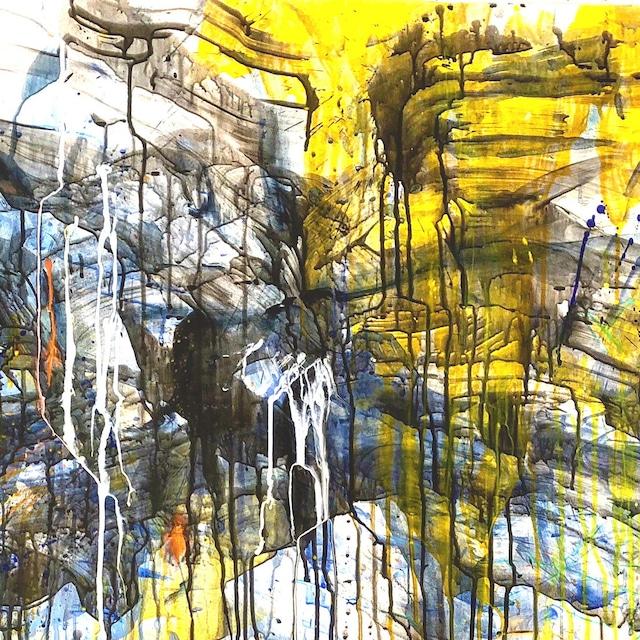 絵画 絵 ピクチャー 縁起画 モダン シェアハウス アートパネル アート art 14cm×14cm 一人暮らし 送料無料 インテリア 雑貨 壁掛け 置物 おしゃれ 抽象画 現代アート ロココロ 画家 : tamajapan 作品 : t-23