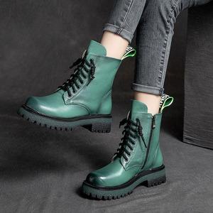 【シューズ】シンプルカジュアルPUファッション中筒丈ブーツ52767481