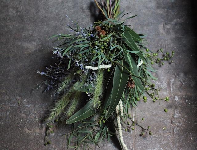 息吹の森のスワッグ(Naturalgreen Swag)