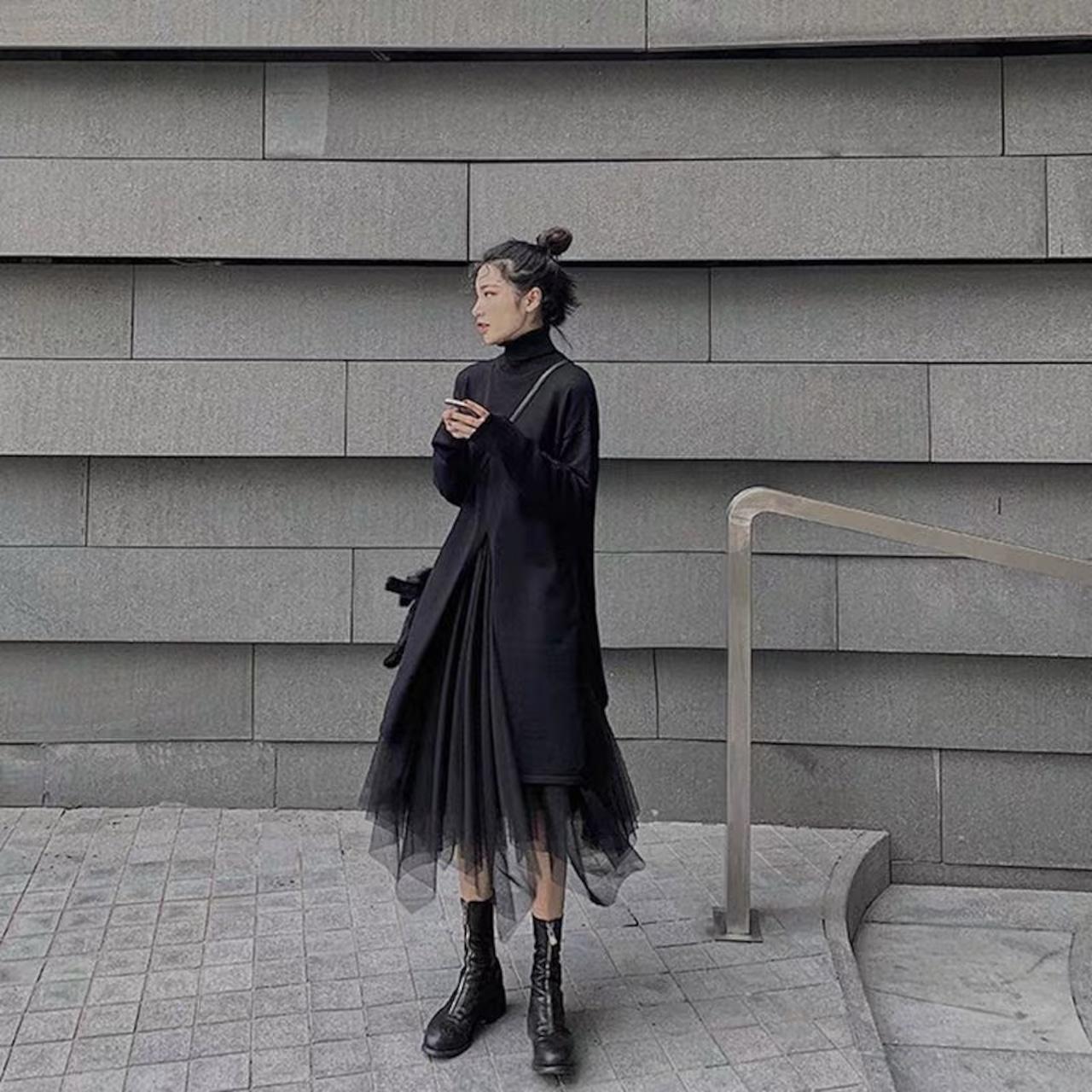 stylish black set up