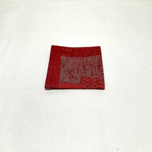 【ワーキングオフィス】布コースター・よろけ縞(赤・紺・紫・黒)IKI1021