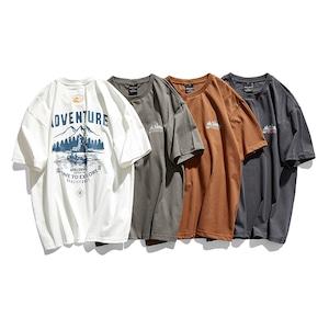 "【UNISEX】""ADVENTURE TIME TO EXPLORE"" ショートスリーブ キャンプ TEE【4colors】UN-593"