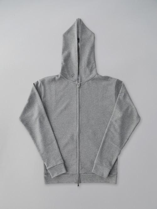 Basic Zip Up Parker Gray