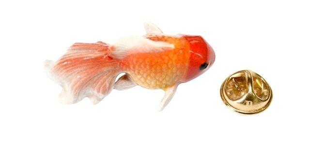 ナッシュ オレンジ金魚 ピン