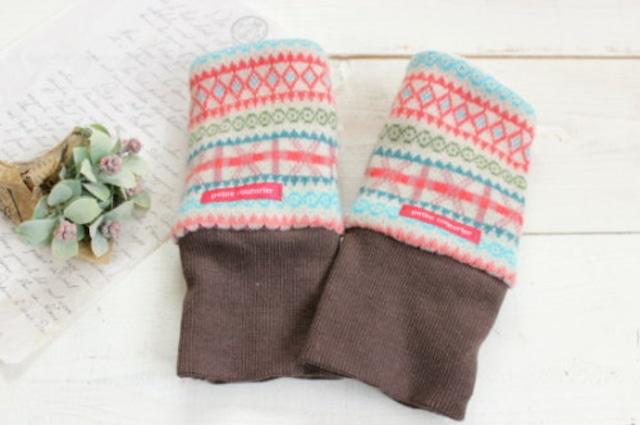 指なし手袋*ハンドウォーマー カラフル/Hippo 型番:Hip-019