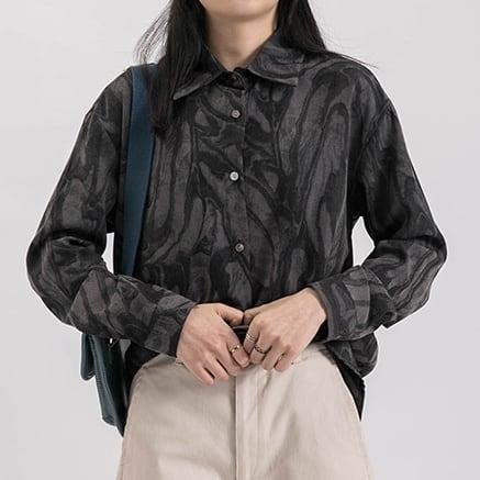 Silky spring shirt(シルキースプリングシャツ)b-010