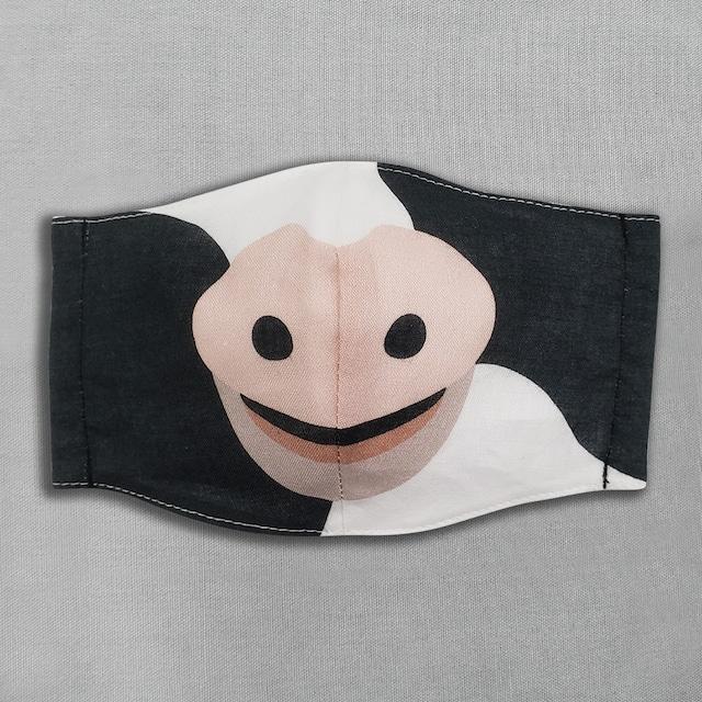 【抗菌・抗ウィルス加工マスク/受注販売】ウシ|動物マスク