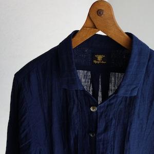 da farmers linen shirtcardigan / royalnavy