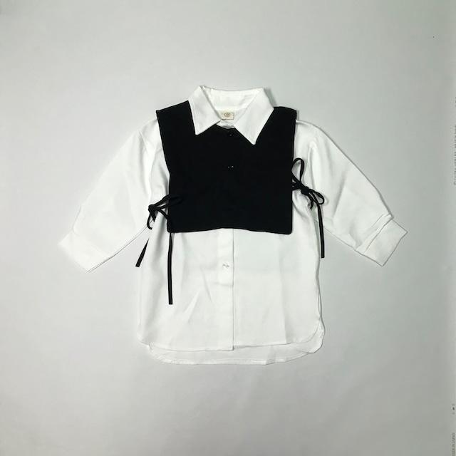 ビスチェ&シャツレイヤードセット【T114】