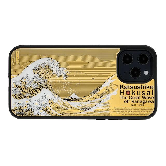 FLASH 神奈川沖浪裏 基板アート iPhone 12 Pro Maxケース【東京回路線図A5クリアファイルをプレゼント】