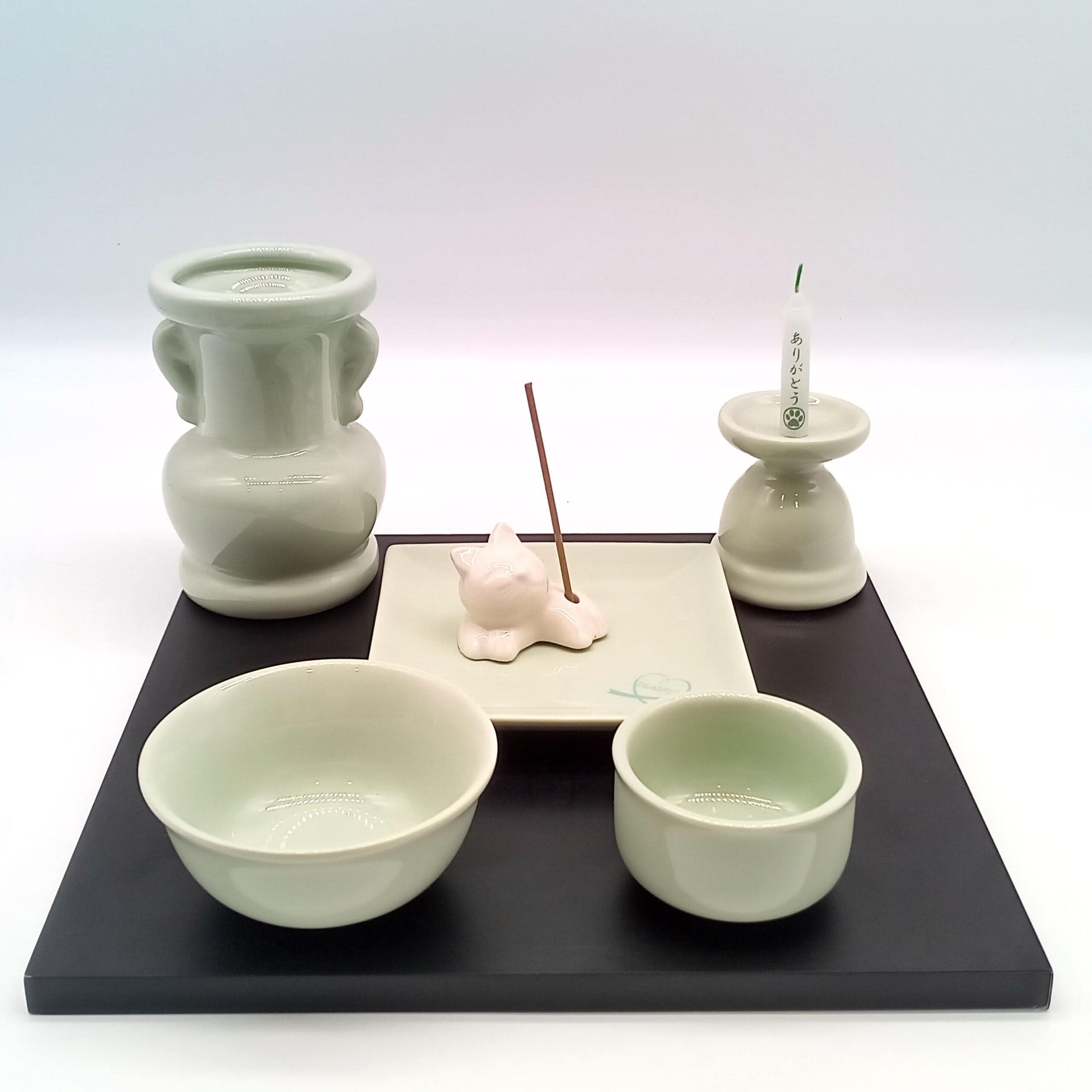 陶器仏具6点セット