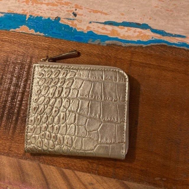 Coquette(コケット) クロココンパクトLZip財布 プラチナ