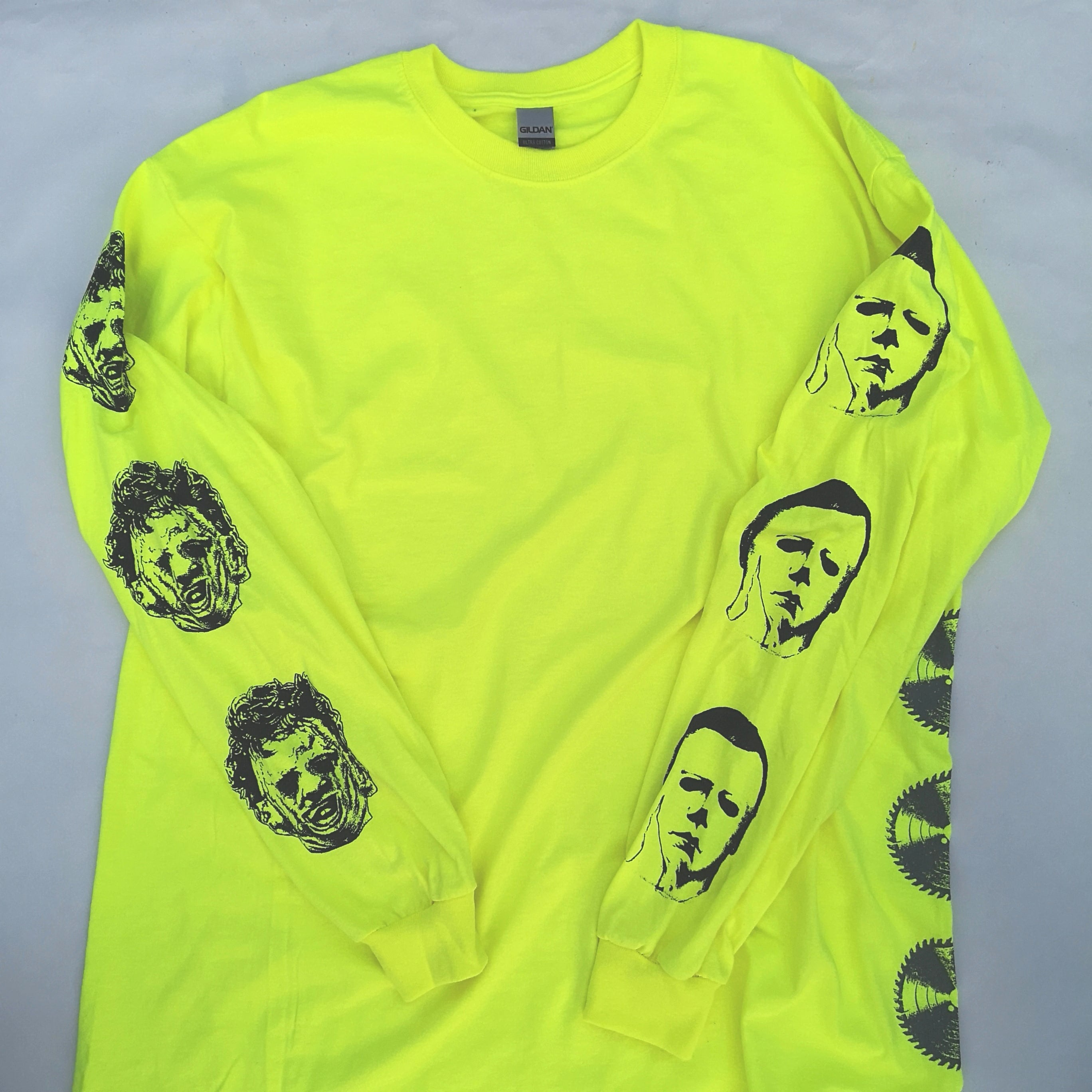       LEATHER AND BOOGEY LONG TEE NEON YELLOW XL
