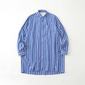 STRIPE LONG SHIRT- BLUE