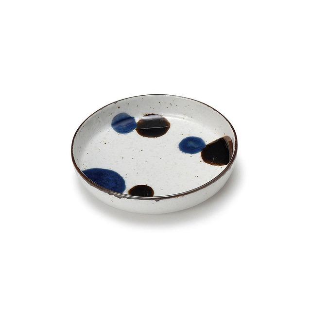 aito製作所 「るり玉 Dots of Ruri」取り皿 深皿 小 約12cm グレー 美濃焼 288085