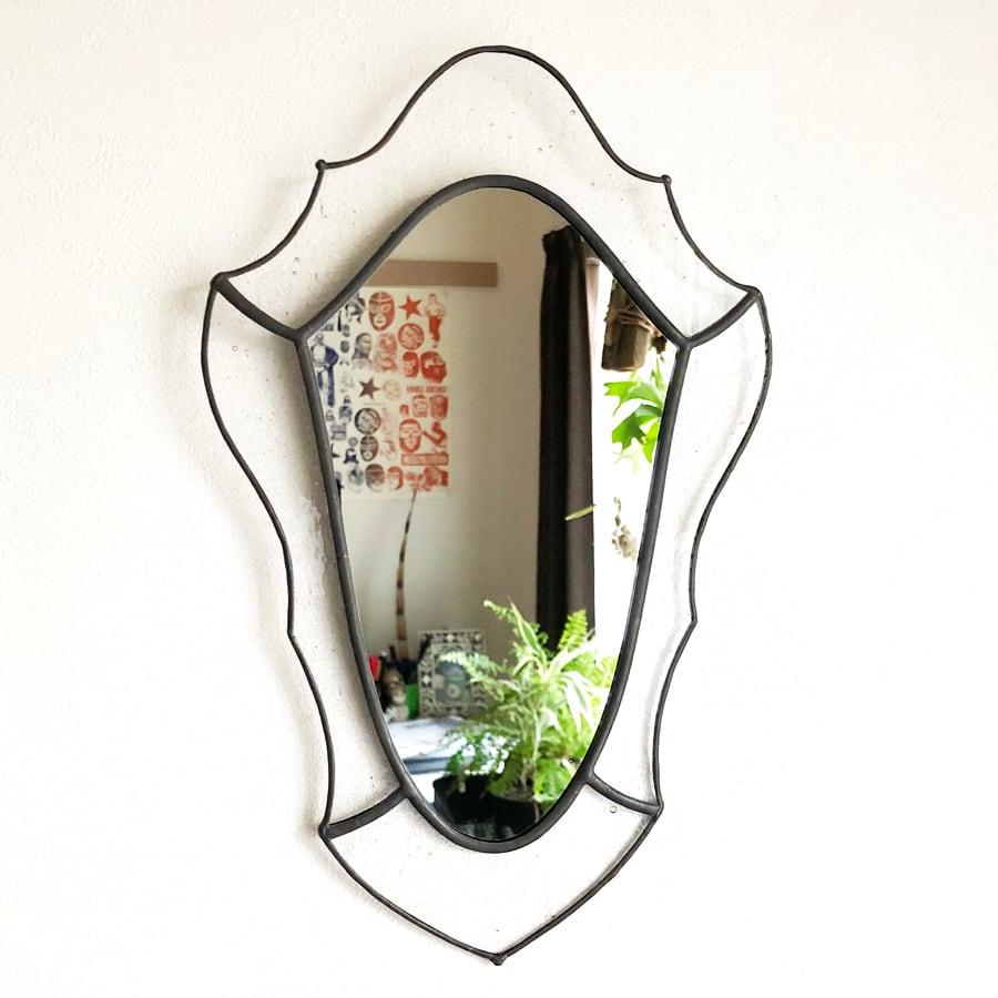 ステンドグラス 鏡 クラシック B アンティークデザイン